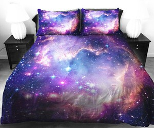 bed and galaxy image