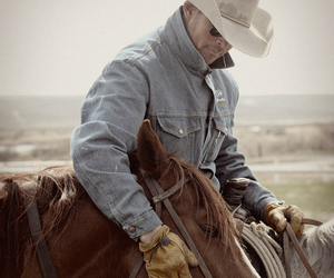 cowboy, horse, and western image