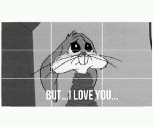love, bugs bunny, and sad image