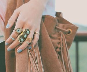 fashion, rings, and bag image