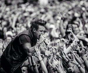 army, black and white, and papa roach image