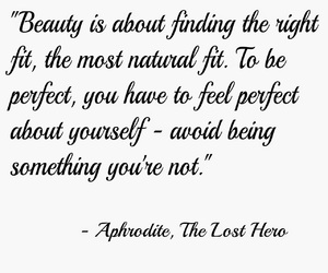 quotes, afrodite, and heroes of olympus image