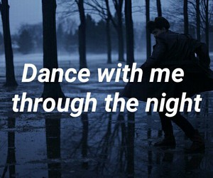 dance, night, and love image