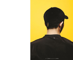 black and yellow, boy, and fashion image