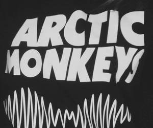 arctic monkeys, black and white, and cool image