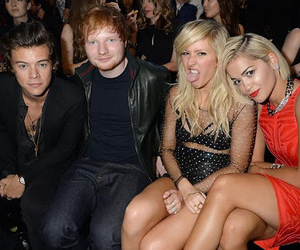 Harry Styles, rita ora, and ed sheeran image