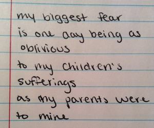 quote, parents, and fear image