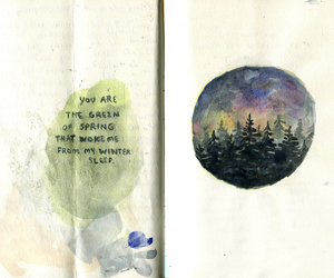 art, illustration, and watercolor image