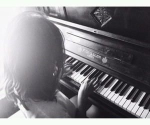 me, piano, and love image