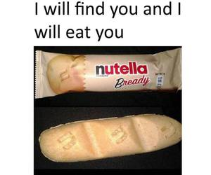 nutella, food, and bread image
