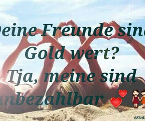 bff, gold, and sprüche image