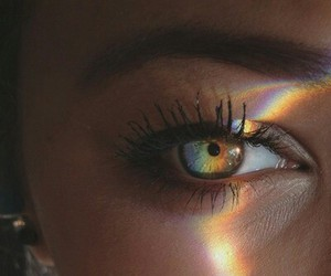 eyes, rainbow, and eye image