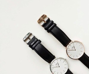 black, watch, and daniel wellington image