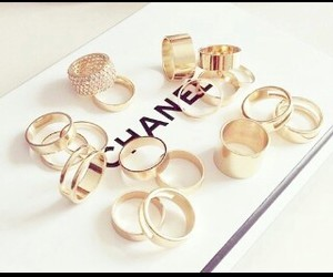 chanel, rings, and fashion image