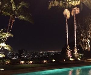 luxury, night, and pool image