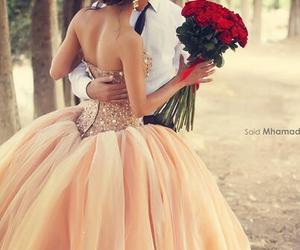 love, dress, and wedding image