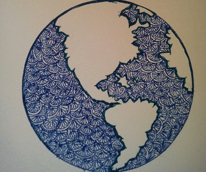 doodle, earth, and earthday image