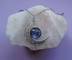 moon, beautiful, and necklace image