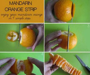orange, mandarin, and diy image
