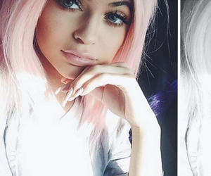 pink, kylie jenner, and hair image