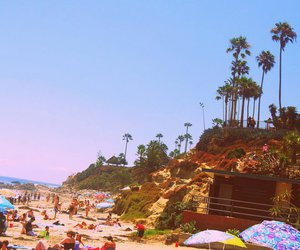 beach, california, and vintage image