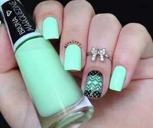 nails, green, and black image