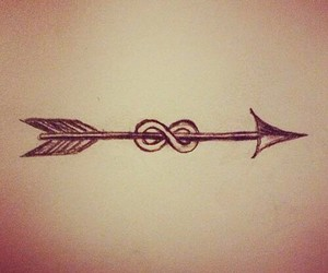 arrow, infinity, and drawing image