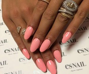 pink, nail art, and nails image