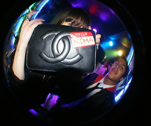 chanel, fisheye, and party image