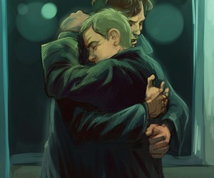 fanart, johnlock, and sherlock image