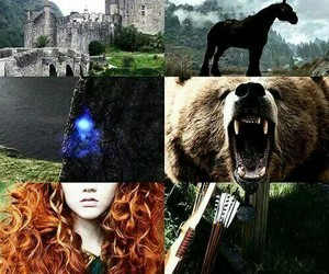 brave, merida, and bear image