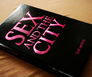 sex and the city, book, and pink image
