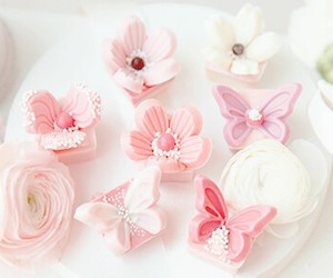 sweet, butterflies, and cake image
