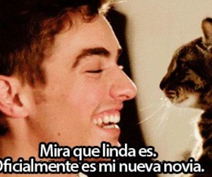 cat, dave franco, and girlfriend image