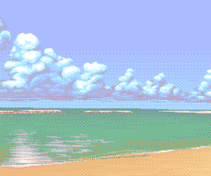 pixel, pixel art, and sea image
