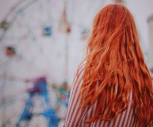 girl, hair, and red image