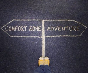 adventure and comfort zone image