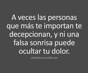 frases, dolor, and decepcion image