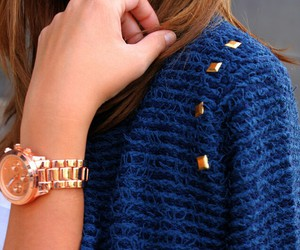 fashion, blue, and watch image