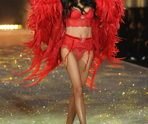 Adriana Lima, Victoria's Secret, and red image