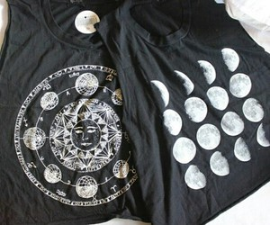 moon, black, and style image