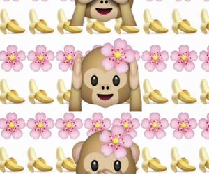 wallpaper, emoji, and flowers image
