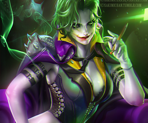 joker, sakimichan, and DC image