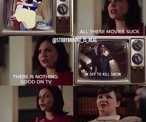 funny, snow white, and evil queen image