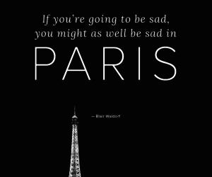 gossip girl, paris, and quote image