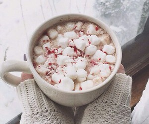 marshmallows, snow, and sweater image