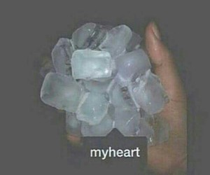 cold, hand, and heart image