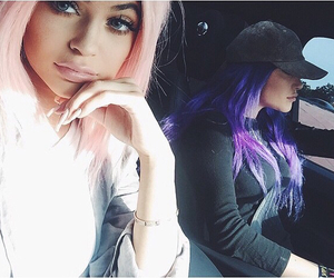 kylie jenner, hair, and pink image