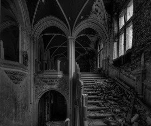 black and white and old image