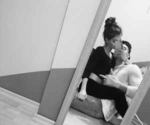 black and white, cute, and couple image